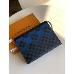 LV官网台湾奢侈品购物男士手拿包POCHETTE VOYAGE 中号手袋N60412