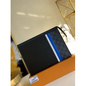 LV官网最大的奢侈品网站男士手拿包POCHETTE VOYAGE 中号手袋M56827