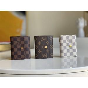 LV官网顶级奢侈品网站短款三折钱包Anais 钱夹M60402/N63242/N63241