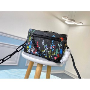 LV官网卖奢侈品的网站花卉印花MINI SOFT TRUNK 链条包盒子包M69072