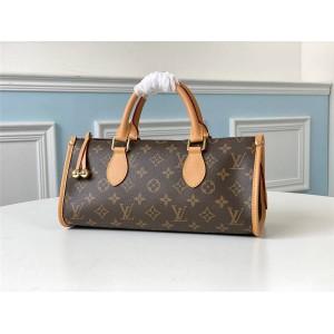 LV官网高仿奢侈品网中古老花Popincourt Haut手袋三角包M40009