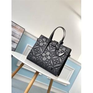 LV官网奢侈品包包论坛羊皮Onthego 手袋购物袋公文包M60725
