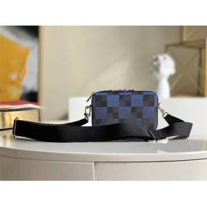 路易威登官网LV法国奢侈品牌丝印ALPHA WEARABLE 手袋相机包N60414