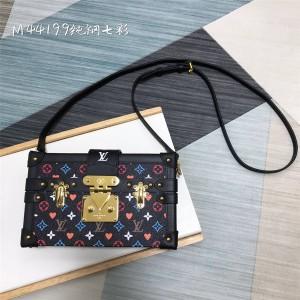 路易威登LV奢侈品代购网中古三彩PETITE MALLE 手袋盒子包M44199