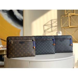 路易威登官网LV奢侈品交易新款男士NEW POUCH 手拿包N60417