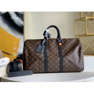 路易威登LV奢侈品购物网KEEPALL 45/55 旅行袋(配肩带)M56711/M56714