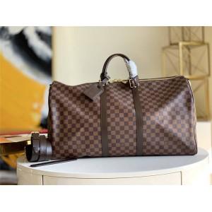 路易威登LV全球奢侈品KEEPALL 45/55 旅行袋(配肩带)N41414/N41428
