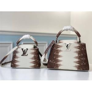 路易威登LV奢侈品包包蜥蜴纹喜马拉雅Capucines 手袋M98093/M48865