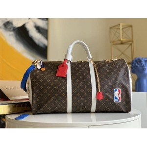 路易威登新款男包LVXNBA BASKETBALL KEEPALL 55 旅行袋M45587