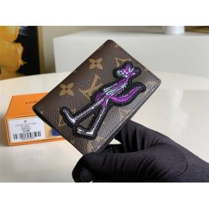 路易威登官网LV奢侈品购物网新款狼人刺绣口袋钱夹M60502