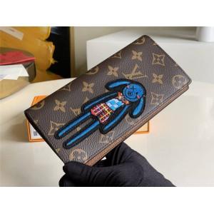 路易威登官网LV奢侈品网购网站新款刺绣BRAZZA 钱夹M66540