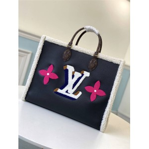 路易威登官网LV奢侈品打折网ONTHEGO 大号手袋羊毛购物袋M56958