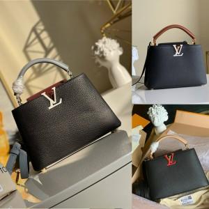 路易威登官网lv专卖店拼色CAPUCINES 手袋M56409/M55781/M57221