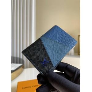 路易威登官网lv全称新款Taïga 皮革拼色口袋钱夹M30709/M30729
