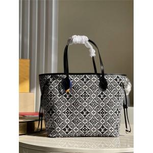 路易威登精仿lv1854系列NEVERFULL 中号手袋购物袋M57273/M57230