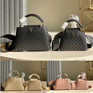 路易威登LV官网女包品牌新款镂空CAPUCINES BB 手袋M57228