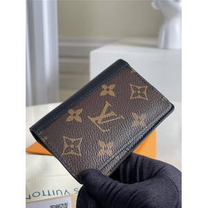路易威登官网LV奢侈品网站新款老花拼皮口袋钱夹M60111