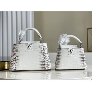 路易威登官网lv包新款CAPUCINES 鳄鱼纹手袋N94227/N93163