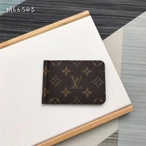 路易威登官网lv新款经典老花美金夹卡包M66543