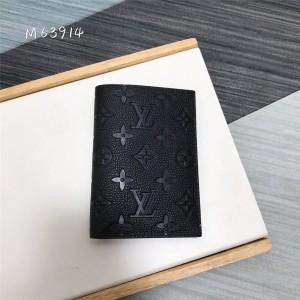 路易威登官网高仿lv压纹牛皮护照套钱夹M63914