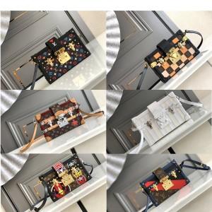 路易威登lv包的价格PETITE MALLE盒子包M40273/M44199/M55519/M57454/M52737/M40273