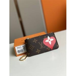 路易威登官网lv全称爱心丝印钥匙零钱包M62650