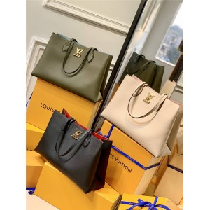 路易威登lv女包官网新款LOCKME 手袋购物袋M57345