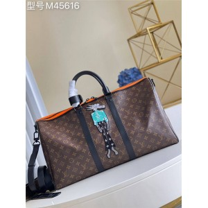 路易威登官网lv正品包包KEEPALL BANDOULIÈRE 50 旅行袋M45616
