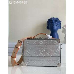 路易威登官网lv包包批发HANDLE TRUNK 手袋银色盒子包M45885