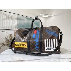 路易威登官网lv包包男士KEEPALL 50 旅行袋(配肩带)M44642