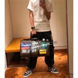 Louis Vuitton lv上海专卖店旅行袋KEEPALL BANDOULIÈRE 50 手袋M44642/M44643