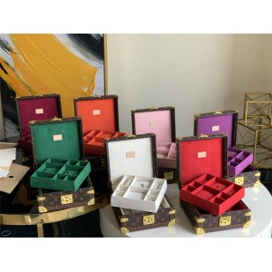 路易威登lv英国官网新款老花Monogram帆布硬质木箱子珠宝盒首饰箱