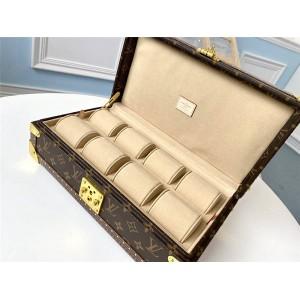 路易威登lv美国官网老花Monogram帆布8只装腕表盒手表箱M47641/M20039