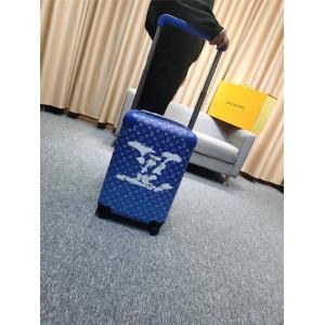 精仿LV香港官网丝印蓝天白云HORIZON 四轮拉杆箱登机箱行李箱M20411